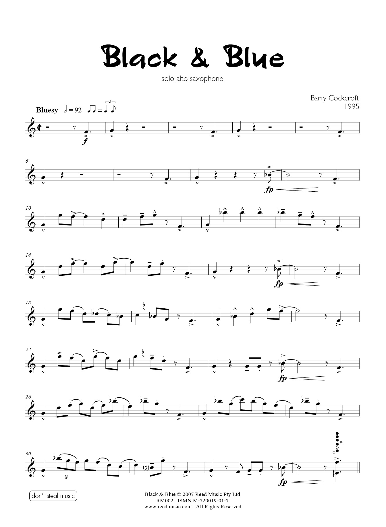 Saxophone Solo Reed Music Page 5