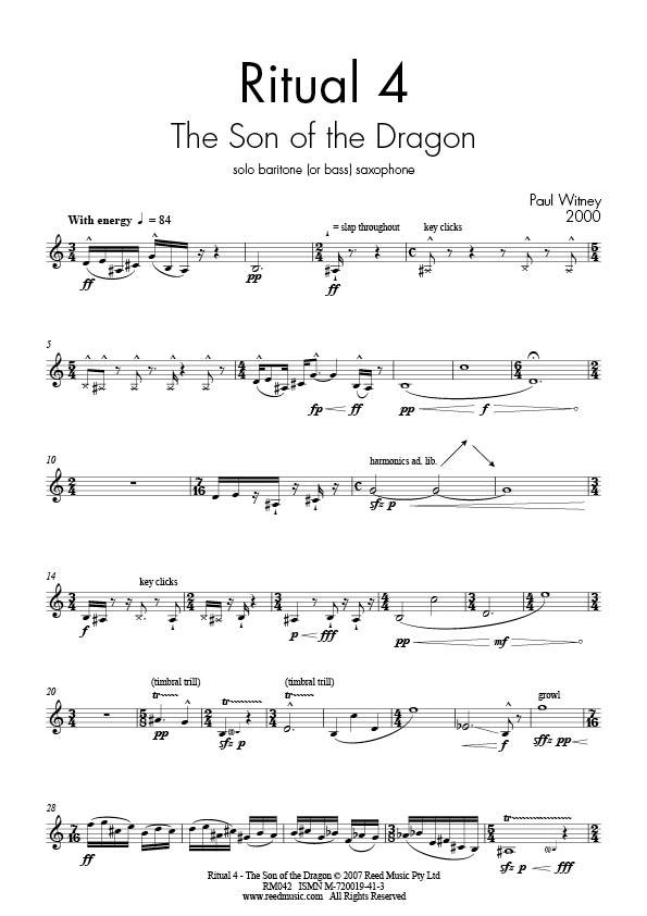 All Music Chords saxophone solo sheet music : Sax Solo Baritone | Reed Music