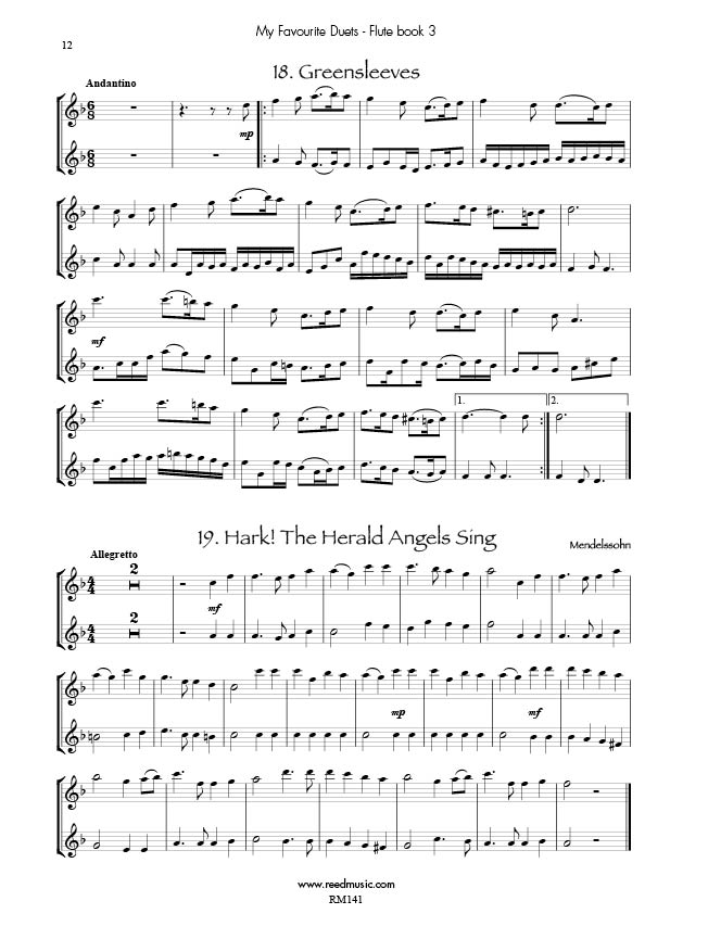 my favourite flute duets book 3 edited by barry cockcroft reed music. Black Bedroom Furniture Sets. Home Design Ideas