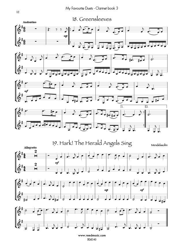 Mins instrumentation clarinet duets my favourite duets ismn m 720059