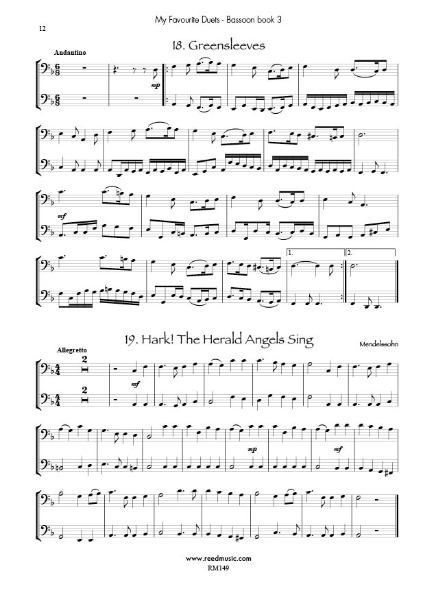 Piano piano and trumpet duet sheet music : Bassoon Duets | Reed Music