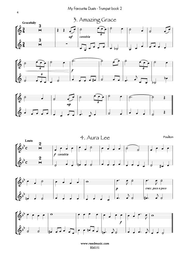 Piano piano and trumpet duet sheet music : My Favourite Trumpet Duets Book 2 Edited by Barry Cockcroft | Reed ...