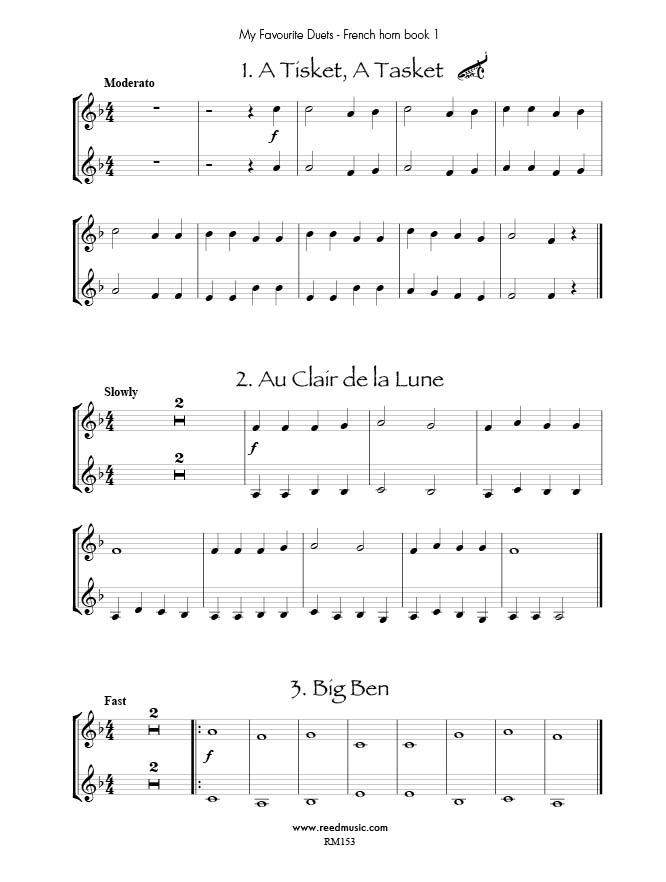 All Music Chords free french horn sheet music : My Favourite French Horn Duets Book 1 Edited by Barry Cockcroft ...