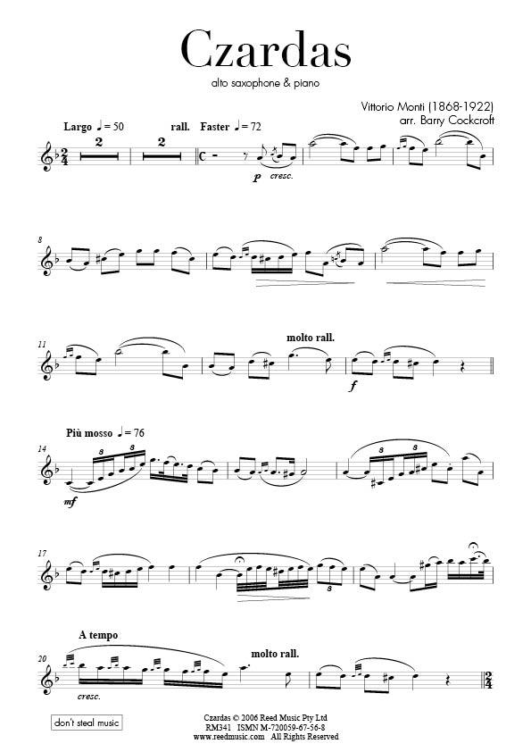 Exam: AMEB Saxophone Alto Grade Certificate of Performance   Reed Music