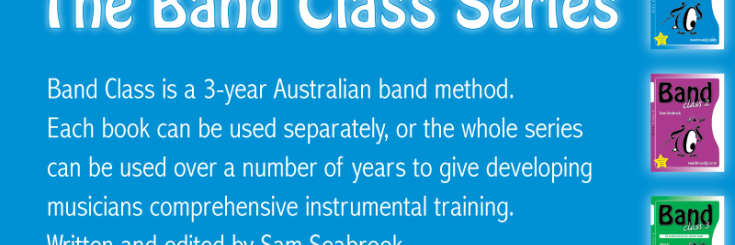 Band Class 1, 2 & 3 is a 3-year band method written by Sam Seabrook and is specifically designed for Australian classroom band programs.